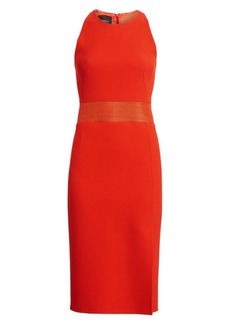 Akris Double-Face Wool Sleeveless Sheath Dress