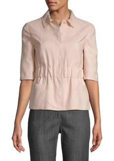 Akris Elbow-Length Cotton-Blend Top