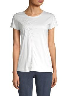 Akris Embossed Graphic Cotton Top