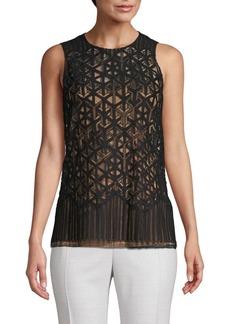 Akris Embroidered Sleeveless Top