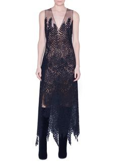 Akris Fern Embroidered Wool Dress