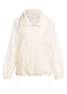 Akris Floral Embroidered Anorak Jacket