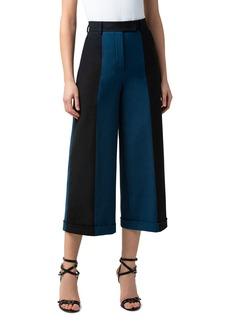 Akris Florella Colorblock Cotton/Silk Culotte Pants