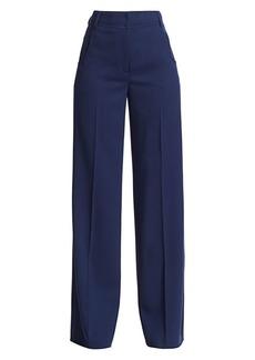 Akris Floyd Diagonal-Effect Wool Pants