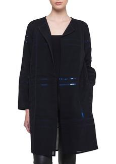 Akris Foil Sequin-Embellished Voile Coat