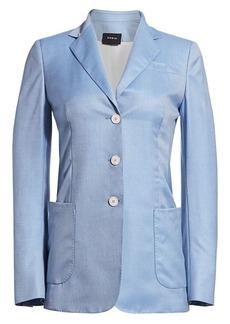 Akris Gan Single-Breasted Cashmere & Silk Twill Jacket