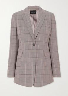 Akris Gash Checked Wool Blazer