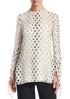 Akris Geometric-Print Blouse