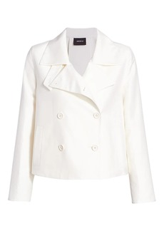 Akris Goslin Cotton & Silk Cropped Trench Coat