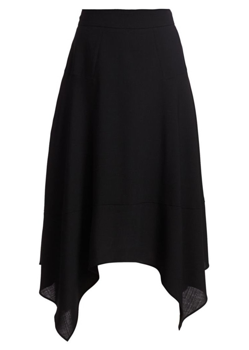 Akris Handkerchief-Hem Wool Skirt