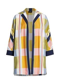 Akris Hellen Fantasy Stripe Swing Coat