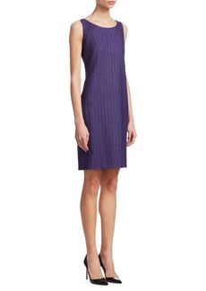 Akris Herringbone Sheath Dress