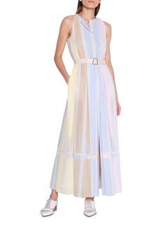 Akris Hidden Button-Front Dress