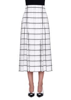 Akris High-Rise Windowpane Midi Skirt