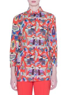 Akris Indian Summer Cotton Voile Shirt