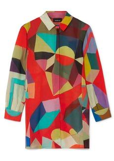 Akris Indian Summer Printed Wool Shirt