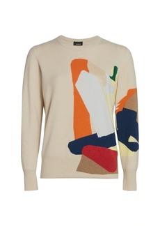 Akris Intarsia Cashmere Knit Pullover Sweater