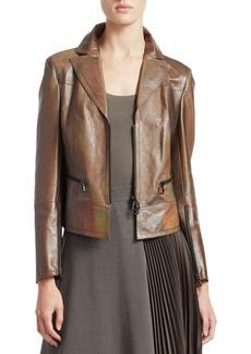 Akris Iridescent Leather Jacket