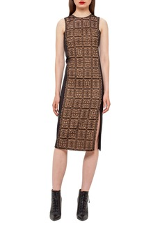 Akris Lace-Front Sleeveless Sheath Dress  Black