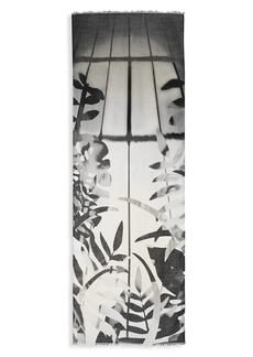Akris Leaf Print Cashmere & Silk Scarf