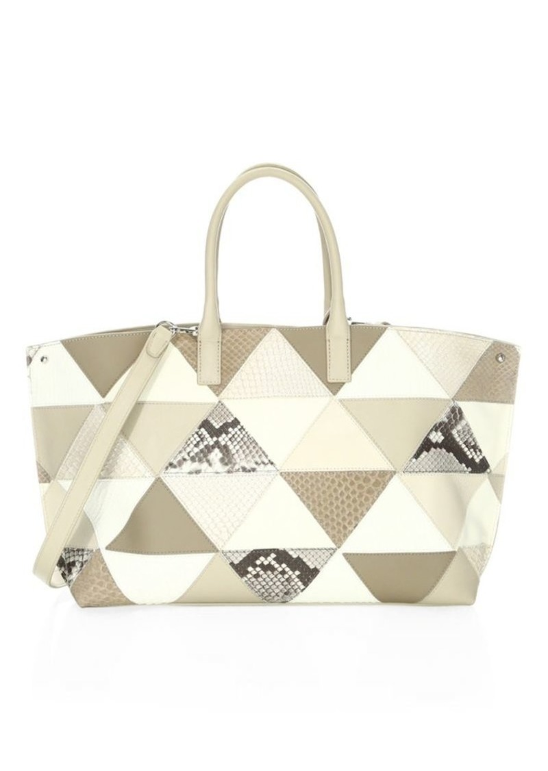 025395be7313 Akris Ai Small Patchwork Leather Tote Now  1