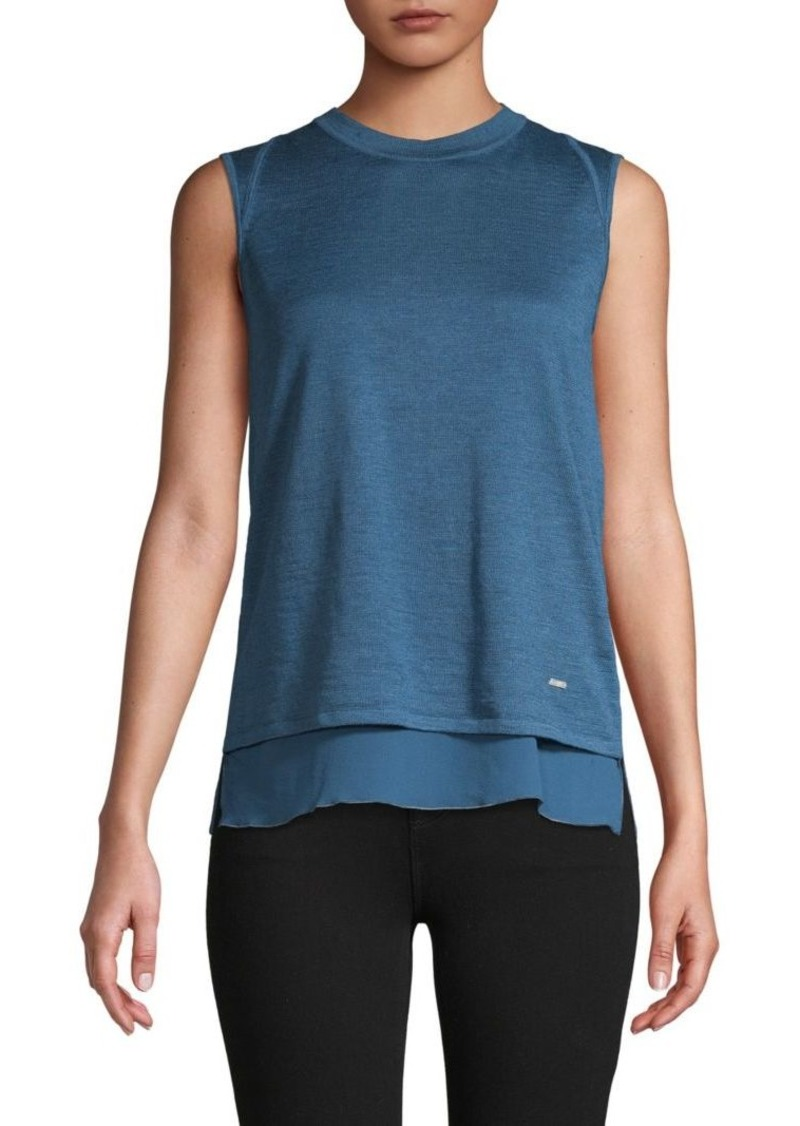 Akris Linen & Silk Tank Top