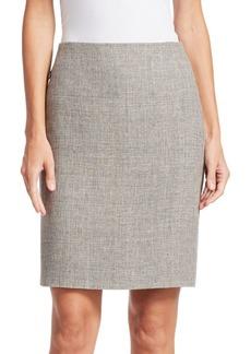 Akris Linen & Wool Pencil Skirt