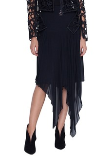 Akris Long Asymmetric Hem Chiffon Skirt