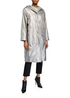 Akris Long Hooded Two-in-One Coat