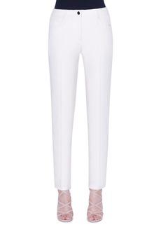 Akris Magda Cotton-Silk Slim-Leg Pants