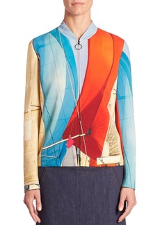 Akris Main Sail Print Bomber Jacket