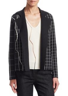 Akris Marble Tile Print Reversible Jacket