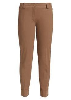 Akris Maxima Cotton Poplin Cropped Pants<br>