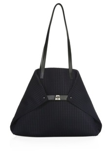 Akris Ai Medium Convertible Leather Tote