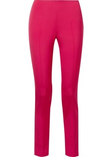 Akris Melissa Stretch-mulberry Silk Slim-leg Pants