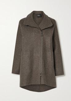 Akris Mélange Cashmere Coat