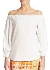 Akris Off-The-Shoulder Cotton Top
