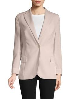 Akris One-Button Wool-Blend Blazer