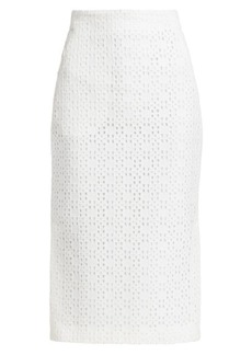 Akris Open Weave Pencil Skirt