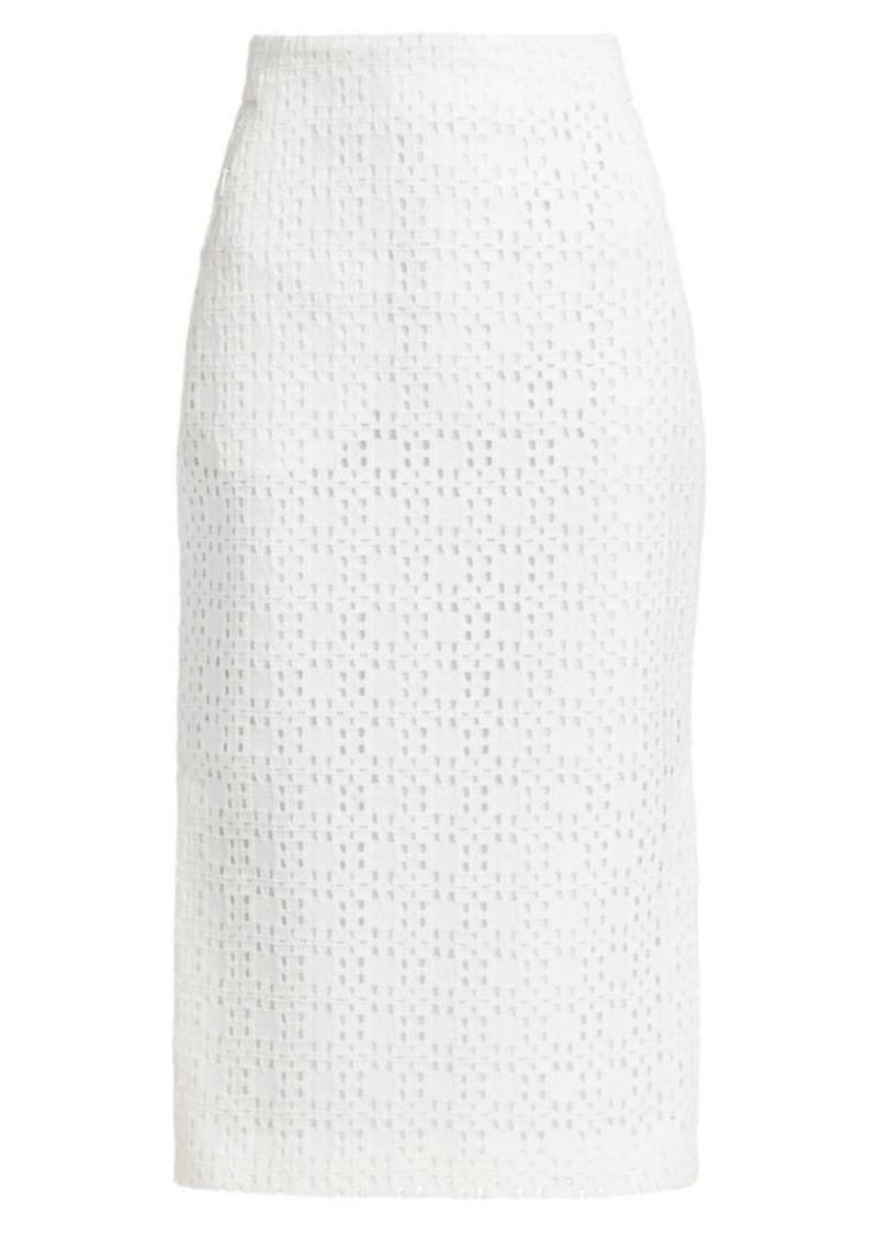 Akris Open Weave Pencil Skirt