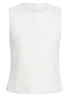 Akris Open Weave Sleeveless Shell Top