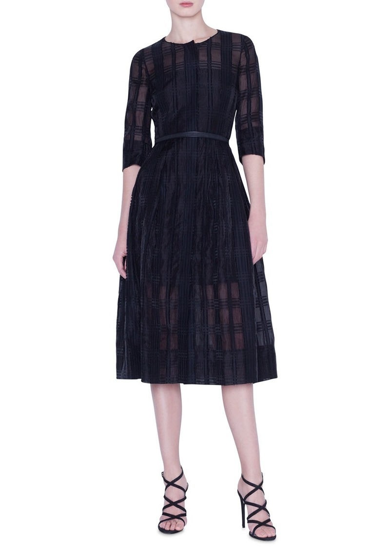 Akris Organza Check Dress