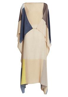 Akris Pittura Printed Silk Crepe Caftan Dress