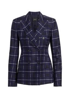 Akris Plaid Cotton & Silk Jacket
