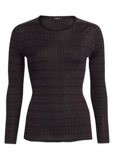 Akris Plaid Rib-Knit Sweater