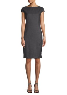 Akris Plaid Wool & Silk Shift Dress