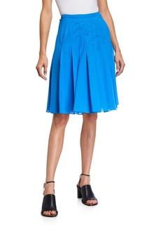 Akris Pleated Fit-&-Flare Skirt