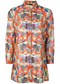 Akris poplin printed shirt