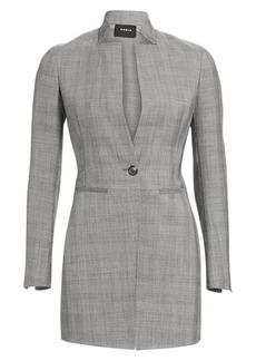 Akris Prince Of Wales Stretch Wool Blazer Jacket