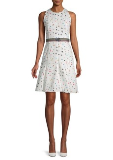Akris Printed Belted Dress
